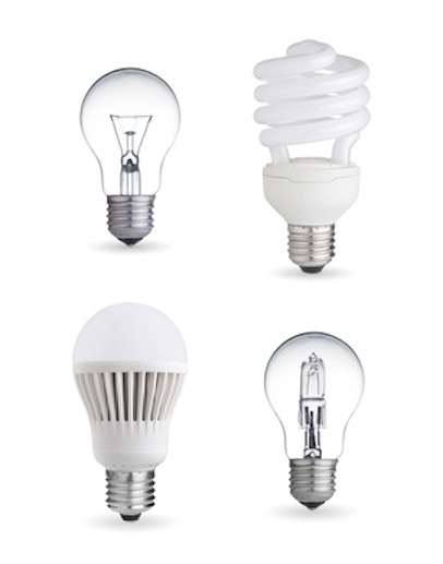 tungsten bulb,fluorescent,halogen and LED bulb
