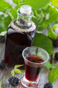 Homemade blackberry liqueur